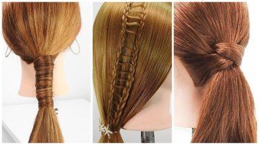 1分間で完成させるポニーテールヘアアレンジ 3パターン ロング三つ編みおろし