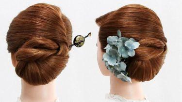 【 和装 ヘアセット】卒業式の袴 エレガントな纏髪