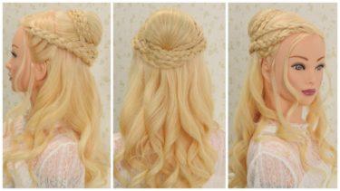 【Game of thronos】Daenerys Targaryen Hairstyle No.2/【ゲーム・オブ・スローンズ】の登場人物デナーリス・ターガリエンの ヘアスタイル