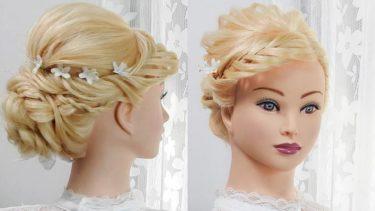 【三つ編み込み髪型】前髪あり
