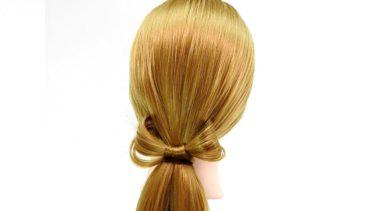 【リボンヘアの作り方】アレンジスティックを使った ポニーテール