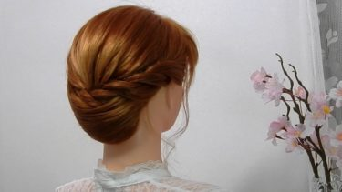 【片側 ロープ編み込み ヘアセット】簡単 清楚な髪型 卒業式の袴 入学式 ヘアアレンジ