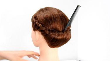 【昭和記念公園 花火大会】 編み込みで浴衣に似合うヘアスタイルを作る ③