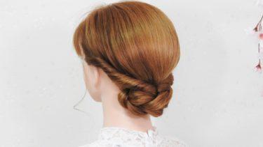 【簡単な和髪 襟足シニヨンヘア】このやり方は サイド髪 崩れない ボリューム感あるロープ編み髪型