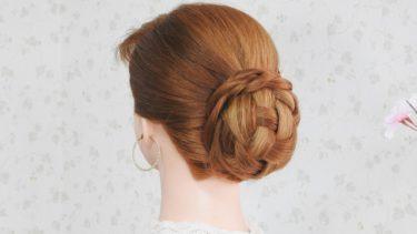 【着物 シニヨン 髪型】360度異なる美を演出まとめ髪 /低めヘアセット