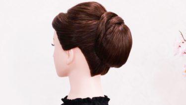 【女性らしい 上品な髪型】トップのボリューム感 アップセット