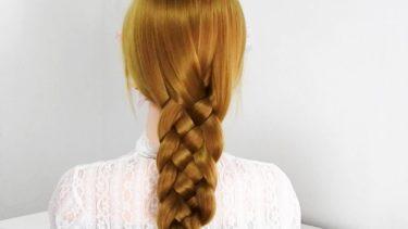 【ゼロから学ぶ基本ヘアアレンジ】5本編み・女の子のために作る五つヘア編み方