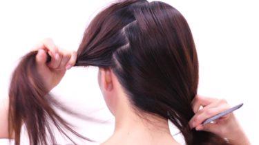 ストレートで巻かない ネープシニヨン可愛い髪型 shie's hair