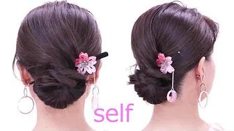 ロープ編みシニヨン/Japanese yukata hairstyles/Chie's hair