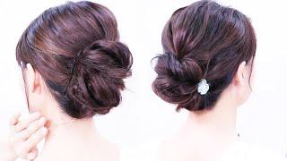 [夜会巻き風]自宅で仕事~結婚式や和装にも似合うヘアー/Chie's Hair
