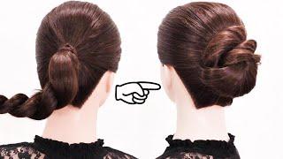 仕事用の髪 まとめ方 朝でも出来る簡単 ロープ編みシニヨン/Chie's Hair