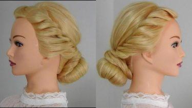 ドーナツを使った簡単なおだんご髪型/入園式・入学式・卒園式のママのヘアセット