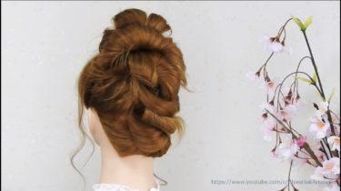 【3本の毛束で アップアレンジ】毛束のほぐし方、後毛の出し方で髪型の印象を変える