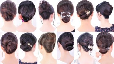 自分で作れる15の 簡単なヘアスタイル集。普段着、結婚式、パーティーでも使える。