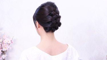 [三つ編み込みポイント]少し顎を上げると、髪を束ねやすい首元すっきり