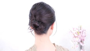 [ピンの留め方]片手で押さえながら 使用方法/Chie's Hair Arrange