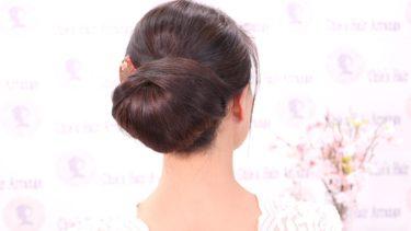 楽々アレンジのアイデア自分で出来る着物シニヨン髪型