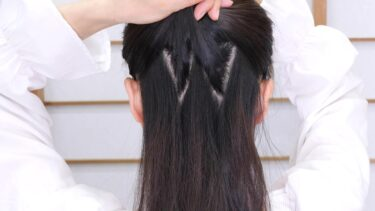 ジグザグ分け 髪をしっかり固定し ヘアピン崩れを減らす 崩れにくい