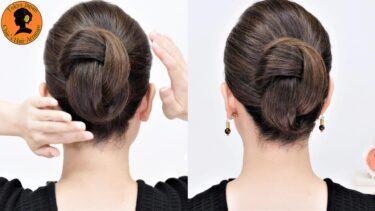 【新発想 ヘアデザイン】毛束を合わせるだけ ピシッとまとめてシンプルで上品なバックシニヨンの作り方